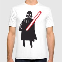 You Are Drawing Vader Mens Fitted Tee White SMALL