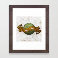 The Orange Turtle Framed Art Print