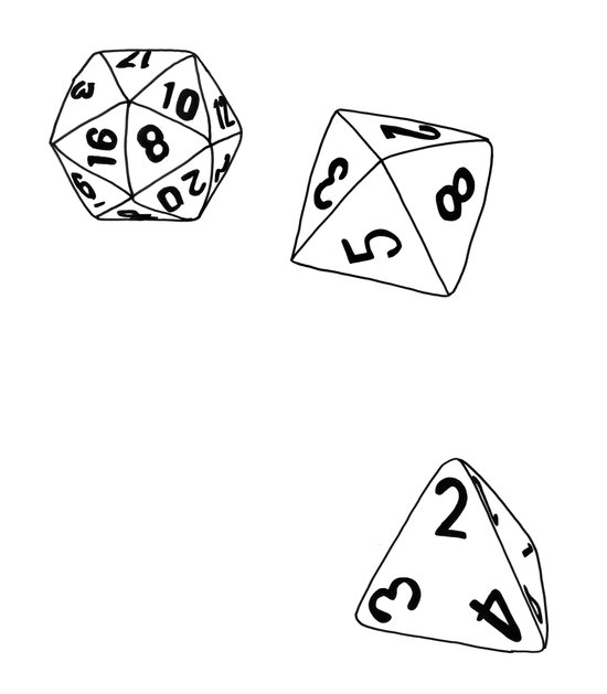 Dungeons and Dragons Dice Art Print
