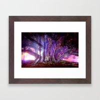 Tree Illuminated Framed Art Print