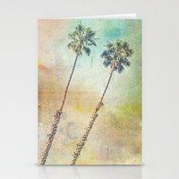 Pastel Palms Stationery Cards