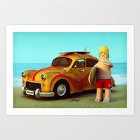 Surf Dude Art Print