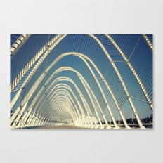 abandoned olymic central, athens Canvas Print