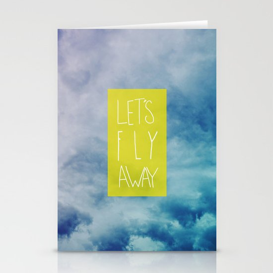 Let's Fly Away Stationery Card