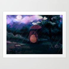 Totoro II Art Print