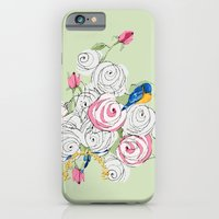 Bluebirds And Roses On G… iPhone 6 Slim Case