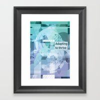Adapting To Thrive Framed Art Print