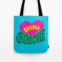 Banana Love And The Croc… Tote Bag