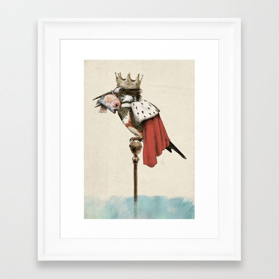 King Fisher Framed Art Print
