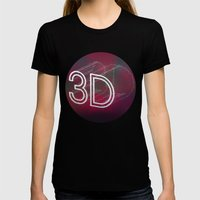 3D Womens Fitted Tee Black SMALL