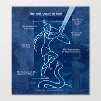 Full Armor of God - Warrior Girl 4 Canvas Print