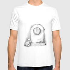 Time SMALL Mens Fitted Tee White