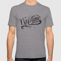 Nap Time All The Time Mens Fitted Tee Athletic Grey SMALL