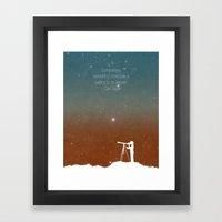Through The Telescope Framed Art Print