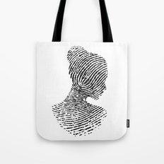 Fingerprint Silhouette Portrait No.1 Tote Bag