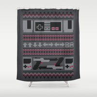Old School Sweater Shower Curtain