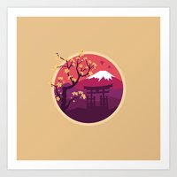 japan Art Prints featuring Japan by Marko Stupic