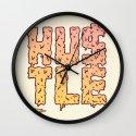 HUSTLE Wall Clock