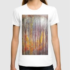 Sun Rise Womens Fitted Tee White SMALL