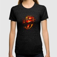 Heart of Fire Womens Fitted Tee Tri-Black SMALL