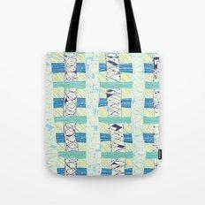 Doodled Checks Tote Bag