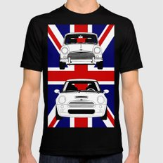 Mini, new and old Black SMALL Mens Fitted Tee