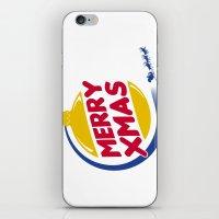 Burger Xmas iPhone & iPod Skin