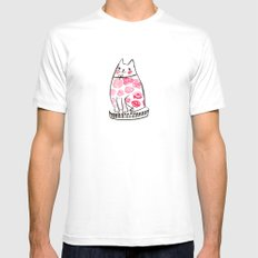 Flower Cat  White SMALL Mens Fitted Tee