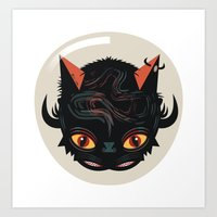 Devil cat Art Print
