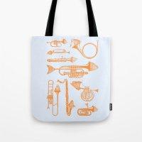 Fish Trumpet Tote Bag