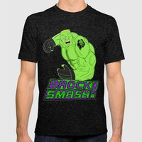 Brock Smash! Mens Fitted Tee Tri-Black SMALL