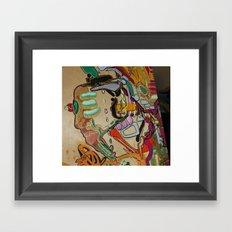 perfect vortex of exploding body Framed Art Print