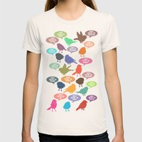 Birdsong Gosh Quotes by Rachel Burbee & Garima Dhawan Womens Fitted Tee Natural SMALL