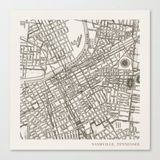 Nashville Map Canvas Print