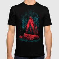 Huntress Mens Fitted Tee Black SMALL