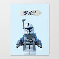 Rex at the Beach Canvas Print