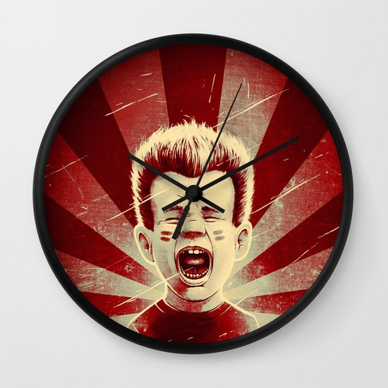 Red Noise Wall Clock