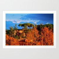 Rome: Tiber River  Art Print