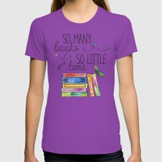 So Many Books, So Little… Womens Fitted Tee Ultraviolet SMALL