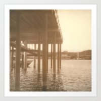 Pier Polaroid Art Print