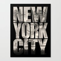 New York City Type Canvas Print