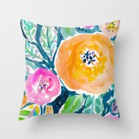 Night Roses Throw Pillow