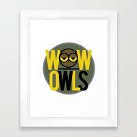 Wow Owls Framed Art Print