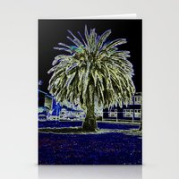Magic Night With Palm Tr… Stationery Cards