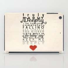 One Direction: Truly Madly Deeply iPad Case