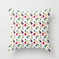 the crew ( pattern version ) Throw Pillow