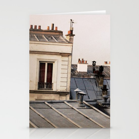 Paris Rooftop #1 Stationery Card