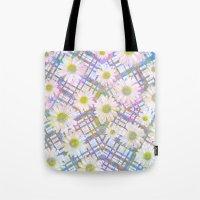 Daisy Plaid Tote Bag