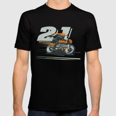 The Racer Mens Fitted Tee Black SMALL