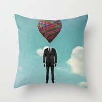balloon man Throw Pillow